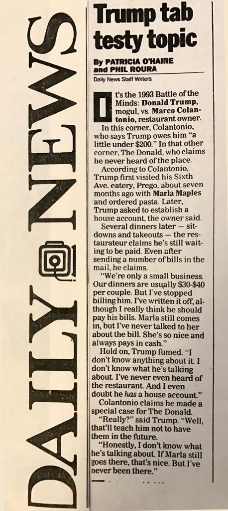 New York Daily News 1993 article